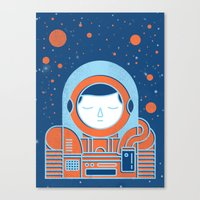 Orange Space Canvas Print