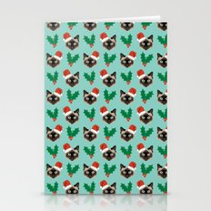 Siamese Cat Cute Christm… Stationery Cards