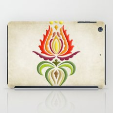 Fancy Mantle on Vintage Background iPad Case