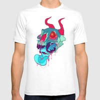 pink skull goop Mens Fitted Tee White SMALL