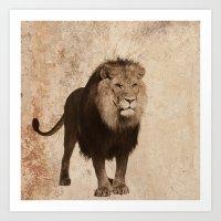 lion Art Prints featuring Lion by haroulita