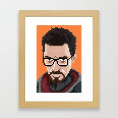 Gordon Freeman portrait Framed Art Print