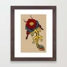 Dragon Flowers Framed Art Print