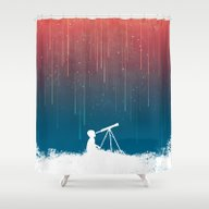 Shower Curtain featuring Meteor Rain (light Versi… by Budi Kwan
