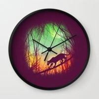 Through The Brush Wall Clock