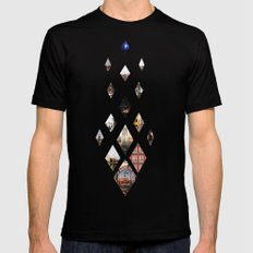 Diamante Black SMALL Mens Fitted Tee