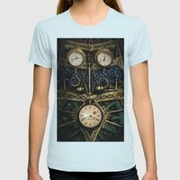 Pressure Over Time Womens Fitted Tee Light Blue SMALL