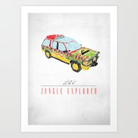 The Jungle Explorer  Art Print