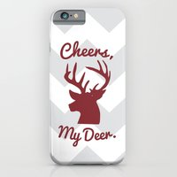 iPhone & iPod Case featuring Cheers, My Deer. by Little_Biscuit