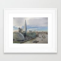 View From Tower Bridge London Framed Art Print