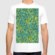 Ikat Floral White SMALL Mens Fitted Tee