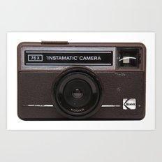 Instamatic Camera 2 Art Print