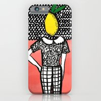 iPhone & iPod Case featuring Lemon Head by Bouffants and Broken Hearts