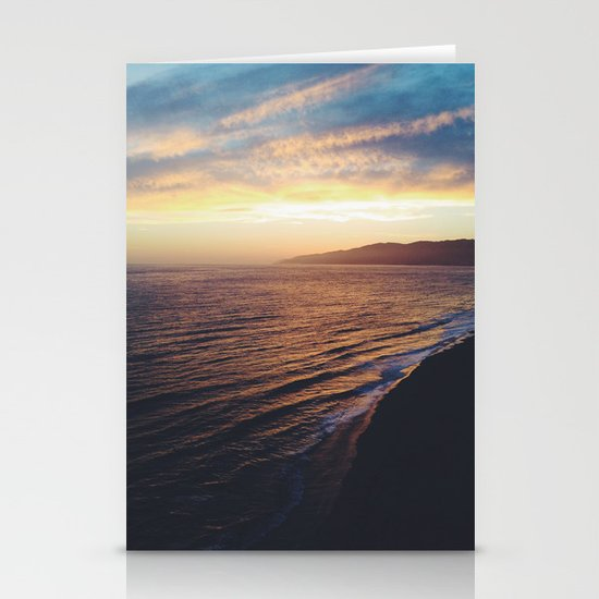 Point Dume Sunset Stationery Card