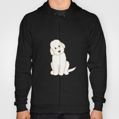 Cream Labradoodle Dog Illustration Hoody