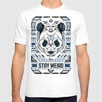 Stay Weird Mens Fitted Tee White SMALL