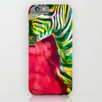 iPhone & iPod Case featuring Mr. Zebra by Elizabeth Cakovan