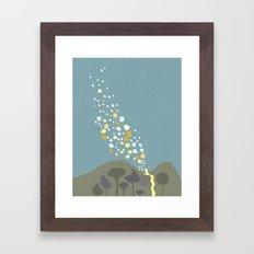 wall painting.. repunzel.. tangeled Framed Art Print