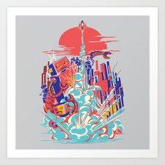 Smash! Zap!! Zooom!! - Generic Spacecraft Art Print
