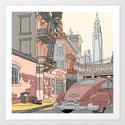 Downtown New York Art Print