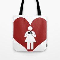 T-Shirt I Love Photography  (Girl) Tote Bag