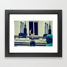 Berlin is calling the light Framed Art Print