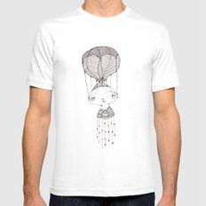 take me away White SMALL Mens Fitted Tee