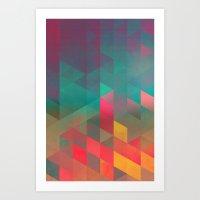 byych fyre Art Print
