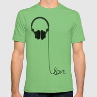 for the love of music Mens Fitted Tee Grass SMALL