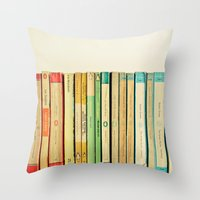 Birds on Parade Throw Pillow