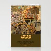wes anderson Stationery Cards featuring Moonrise Kingdom - Wes Anderson by Smart Store