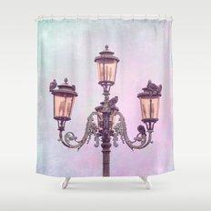 MAGICAL VENICE | Pink Lanterns Shower Curtain