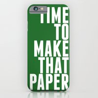 iPhone & iPod Case featuring Make That Paper by tessellate