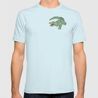 All-I-Grator Mens Fitted Tee Light Blue SMALL