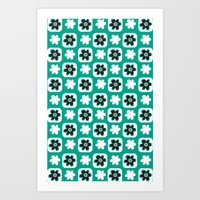 Emerald flower Art Print