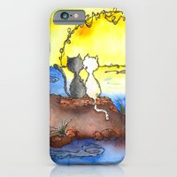 iPhone & iPod Case featuring Cats at Sunset by  MaiCat