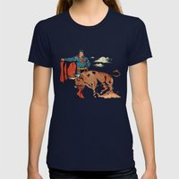 Matador of Steel Womens Fitted Tee Navy SMALL