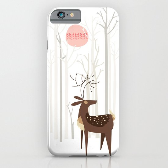 Reindeer of the Silver Wood iPhone & iPod Case