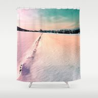 The Field And The Villag… Shower Curtain