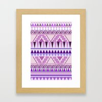 Aztec; Purple Dreams Framed Art Print