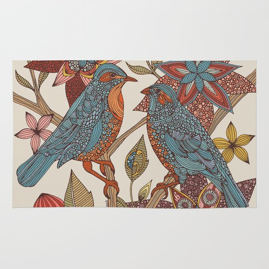 Lovebirds Area & Throw Rug