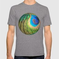 Peacock Eye And Sword Sp… Mens Fitted Tee Tri-Grey SMALL