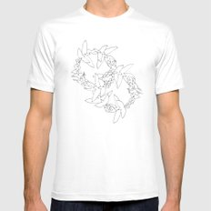 Flying in Circles White SMALL Mens Fitted Tee