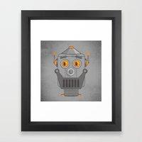 Love my robot Framed Art Print