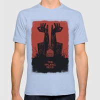 The Walking Dead. Mens Fitted Tee Athletic Blue SMALL