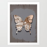chicago - butterfly collection Art Print