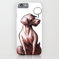 iPhone & iPod Case featuring Talking Dogs by Salgood Sam