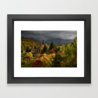 It's coming! Framed Art Print