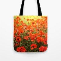 Field of poppies Tote Bag