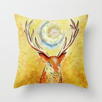 Spirit Stag Throw Pillow